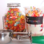 Fruity Sundae with fruity pebbles and scooper